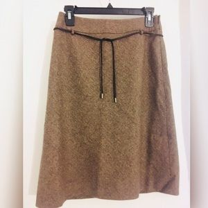 Loft brown wool skirt